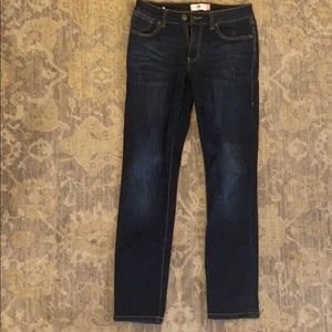 Cabi High Straight Lightly Distressed Jeans